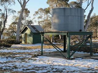 The loo and water tank at the Mt Franklin Chalet