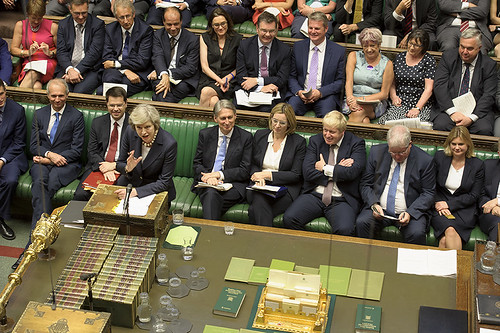 Theresa May's first PMQs as Prime Minister | by UK Parliament