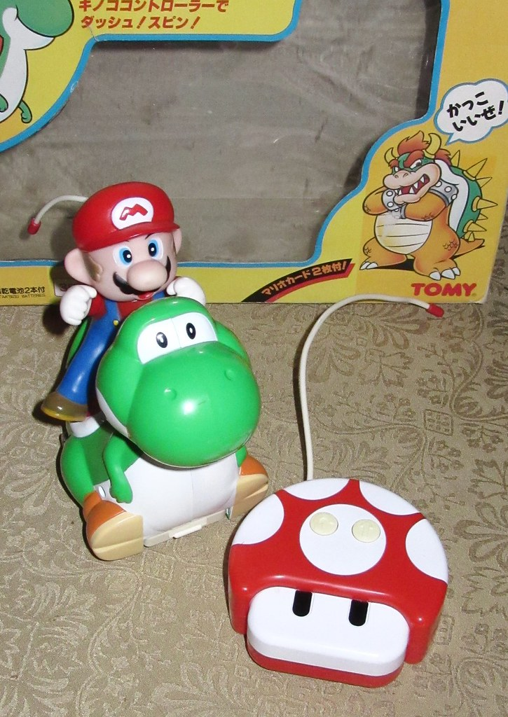 mario and yoshi rc toy open  mario and yoshi rc toy out