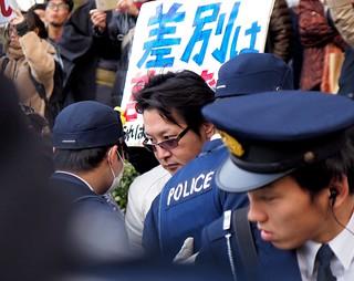 2014.12.7|京都でのヘイトスピーチ・デモとそれに対するカウンター活動|Demonstration by Racists in Kyoto, 2014/12/7.