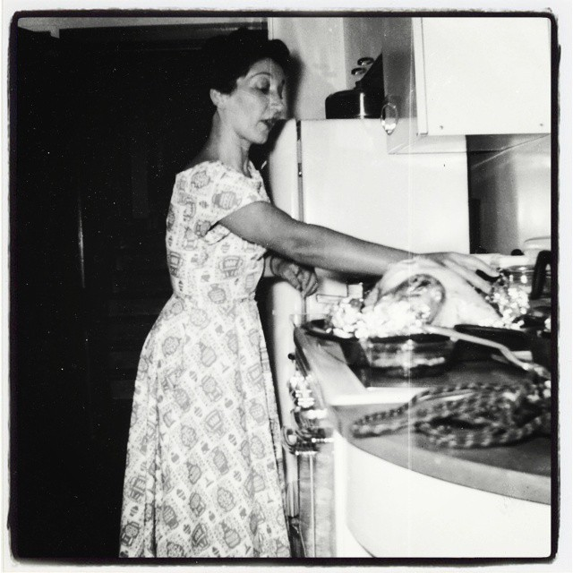 My mom in her kitchen, early 1950's (Instagram)