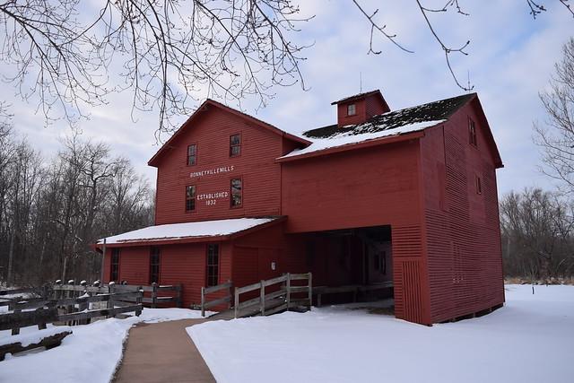 Bonneyville Mill in winter