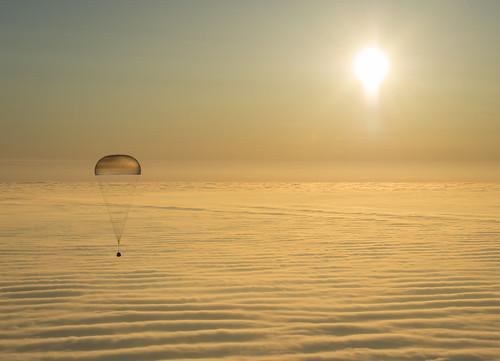 Expedition 42 Soyuz TMA-14M Landing (201503120102HQ)
