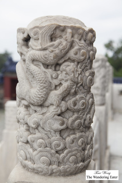 Wonderful details on the stone pieces at Temple of Heaven, Beijing, China