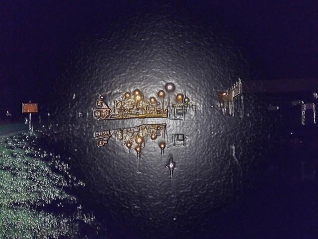 Night view reflection Jubbega, Fryslân - The Netherlands (224840804)