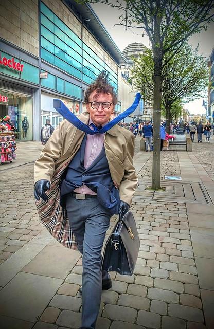 Walking man Manchester. . .