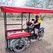 Mototaxi for getting to cenotes, Homún por Second-Half Travels