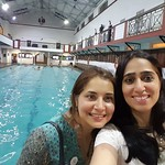 CSC indoor pool-selfie