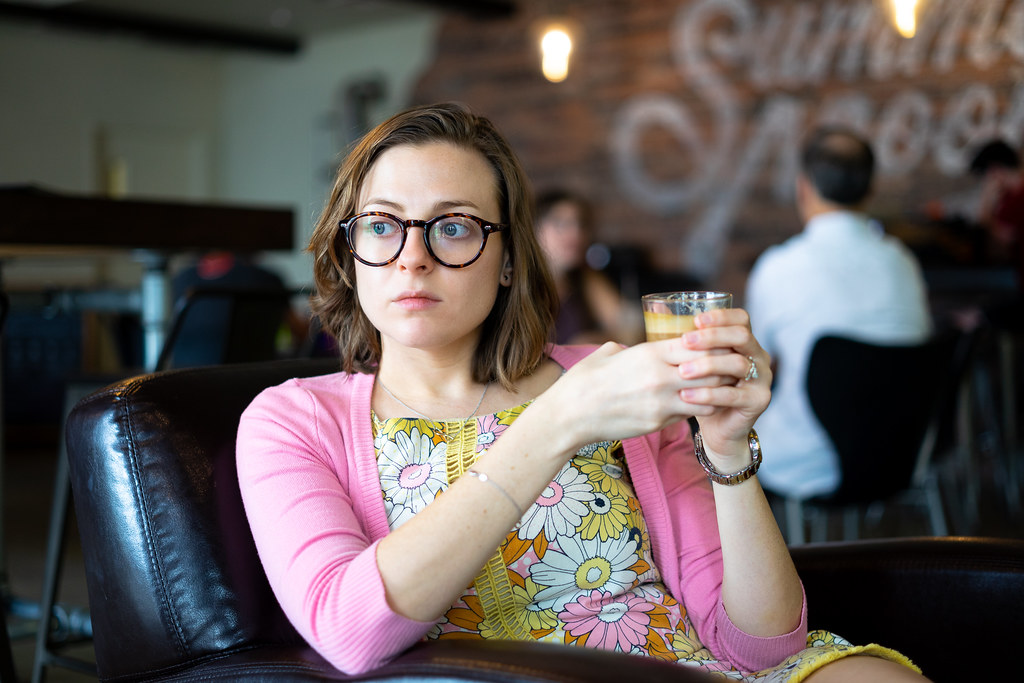Image result for female millennial at coffee shop