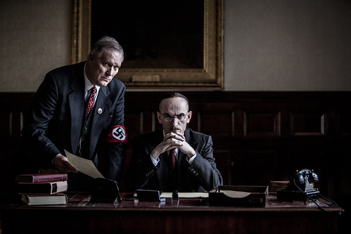NSDAP Political Leader at the Reich Chancellery for TV documentary, Hitlers Circle of Evil,