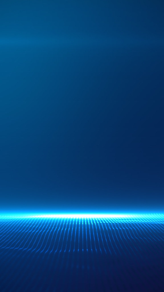 Beautiful Blue Particles With Lens Flare On Blue Gradient