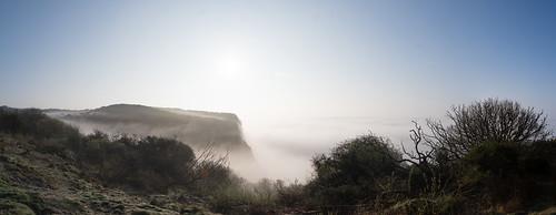seamist cliffs takenfromthelandslipsite ecclesbourneglen earlymorning hastings hastingscountrypark 8images panorama