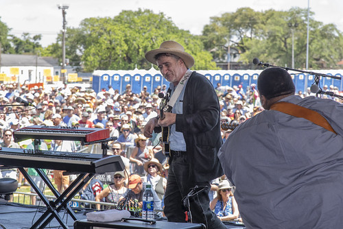 Jon Cleary on Day 1 of Jazz Fest - 4.27.18. Photo by Marc PoKempner.