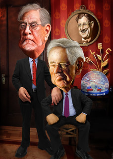 David and Charles Koch - Caricatures | by DonkeyHotey