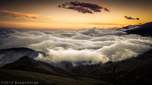 autumn sunset clouds tramonto nuvole autunno alpi bielmonte oasizegna panoramicazegna beppeverge