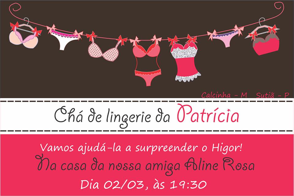 Convite Cha De Lingerie Ingredy Rodrigues Flickr