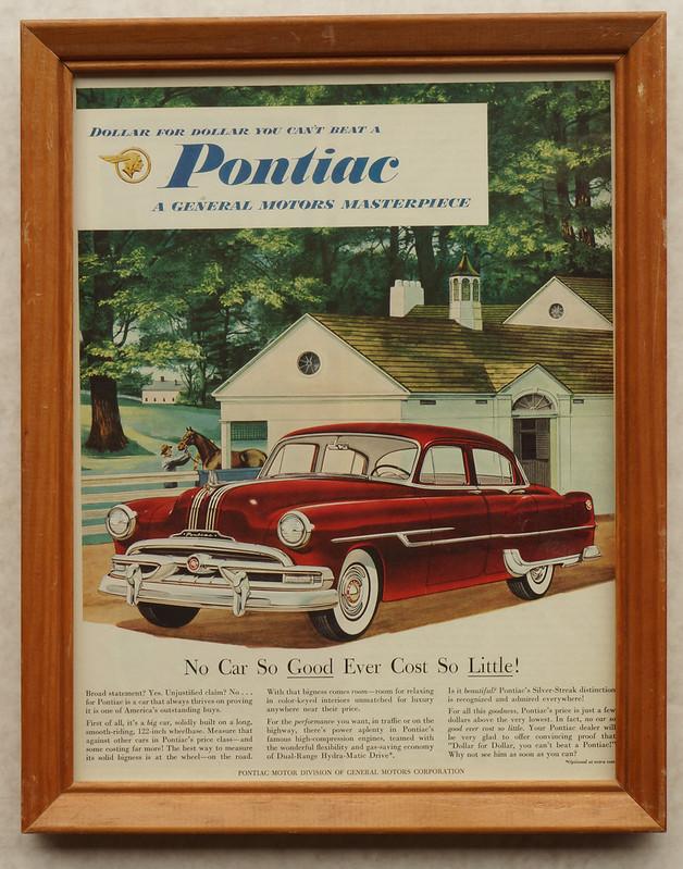CM038 1953 Pontiac Car Ad Framed DSC04136