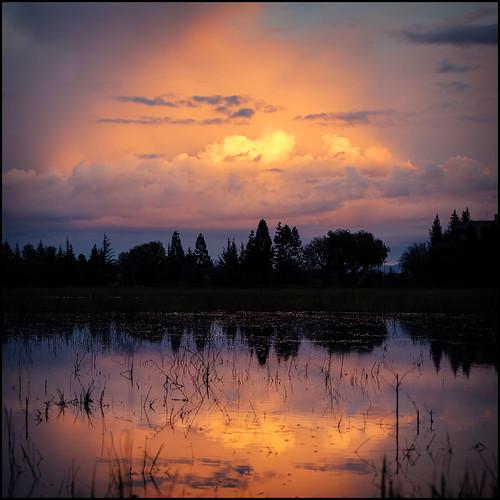 california ca sunset storm pleasanton