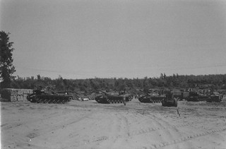 Tanks Setting Up Camp, Operation Double Eagle, 1966