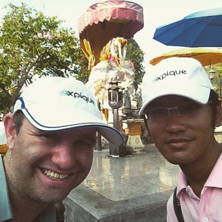 When it's a holiday we go exploring for a new walking tour in #Bangkok. Soon you can come to Pig Memorial with us!   by ExpiqueTravel