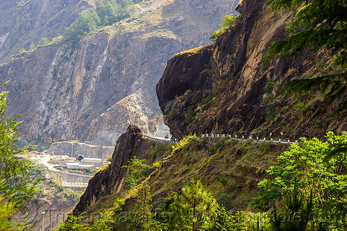DSC09918 - Mountain Road in Rugged Alakananda Valley (India) | by loupiote (Old Skool) pro