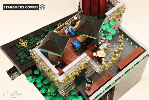 Lego MOC Starbucks Cafe (7) | by WingYew