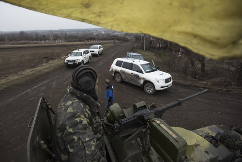 OSCE SMM monitoring the movement of heavy weaponry in eastern Ukraine   by OSCE_SMM