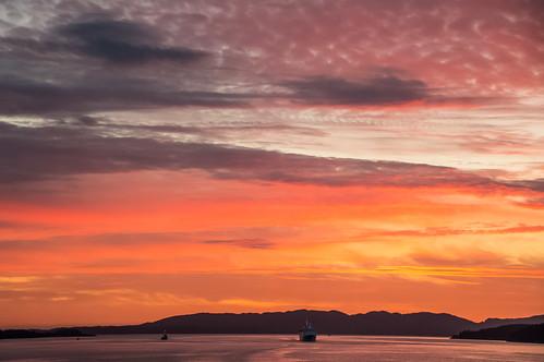 hordaland norway no sunset