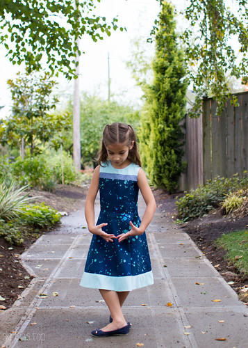 banded blue building block dress | by skirt_as_top