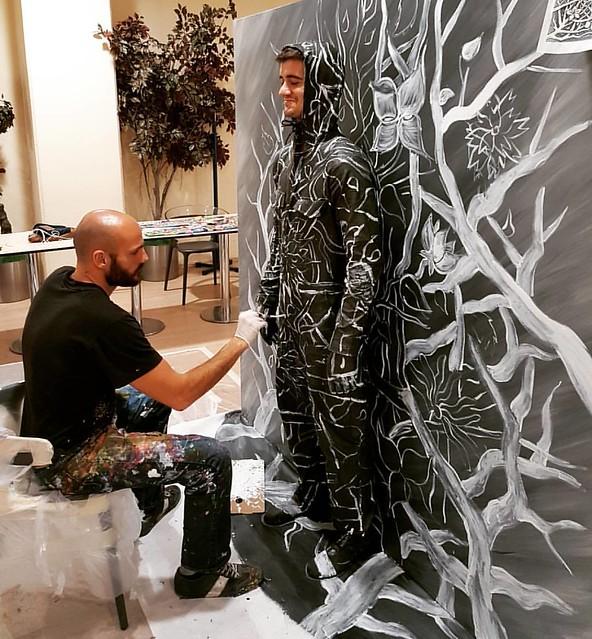 #FleshandAcrylic in progress #benheineart #painting #drawing #art #ankamall