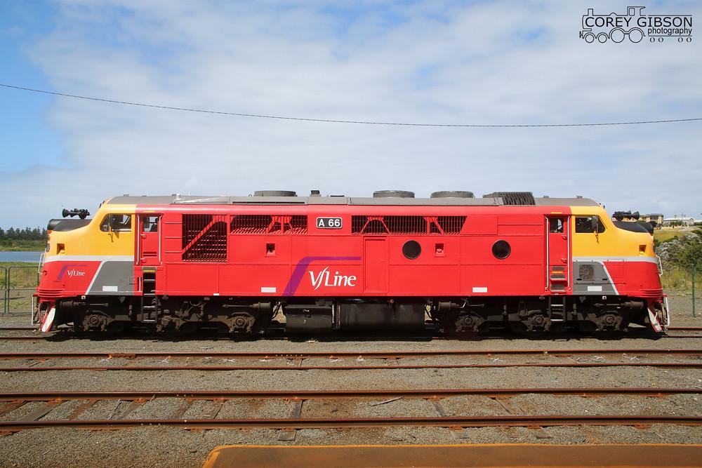 Vline Locomotives A66 in Warrnambool by Corey Gibson