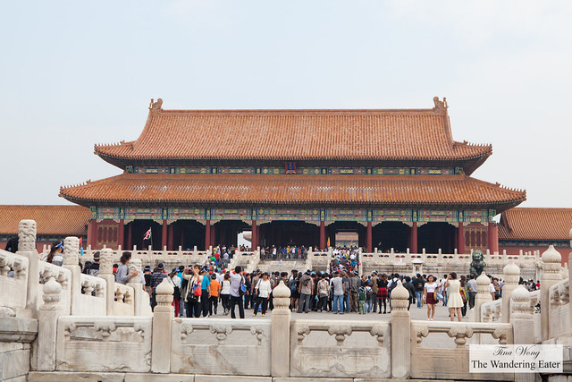 After entering the front gate (Wumen or Meridien Gate)  of Forbidden City, Beijing, China