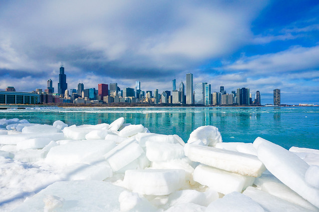 Icy Chicago Skyline - re-edited for portfolio