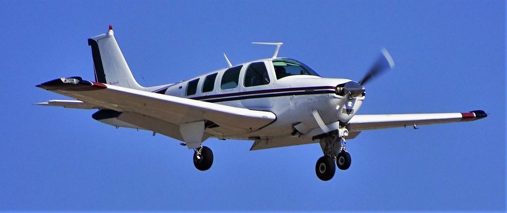 73016-21, N812WP '75 Beech A36 Bonanza | Landing | Steven K