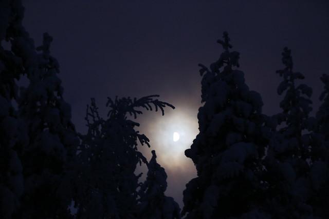 night sky in Tahko, Finland
