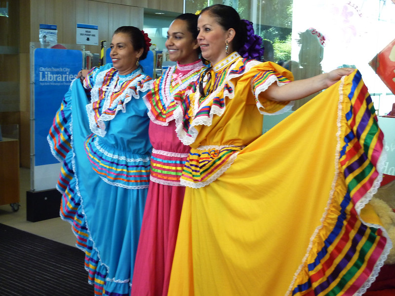 Mexican dancers - Chinese Lunar New Year festivities at Upper Riccarton Library