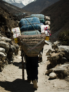 Laborious walk - On the way to Everest base camp - Nepal