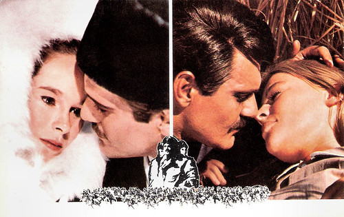 Geraldine Chaplin, Omar Sharif and Julie Christie in Doctor Zhivago (1965)