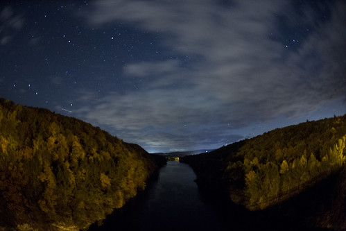 frenchkingbridge connecticutriver newengland massachusetts erving autumn fall trees river nature sky canon 5dmarkiii sigma fisheye 15mm night stars longexposure