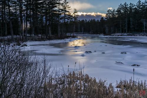 sunset unitedstates massachusetts beaver tully royalston tullylake winter2014