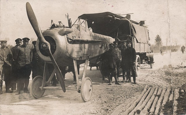Captured French SPAD S.VII on a German transport - ca. 1916-1918