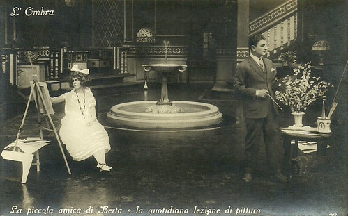 Liliana Ardea and Alberto Collo in L'Ombra (1923)