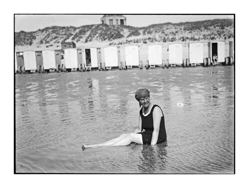 Lady In Bathing Suit; Netherlands; around 1920