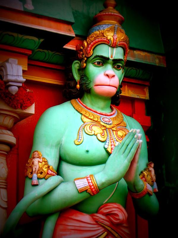 Hanuman god Hindu temple Singapore