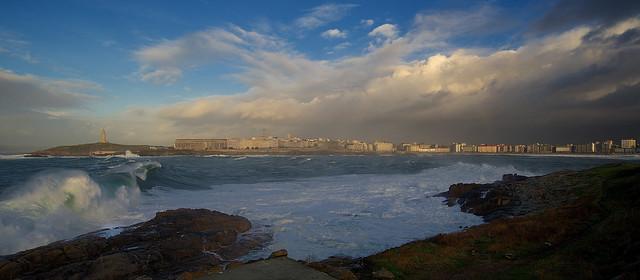Ensenada del Orzán, La Coruña