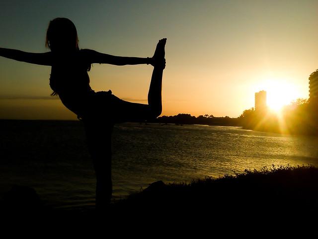 Backlit Yoga
