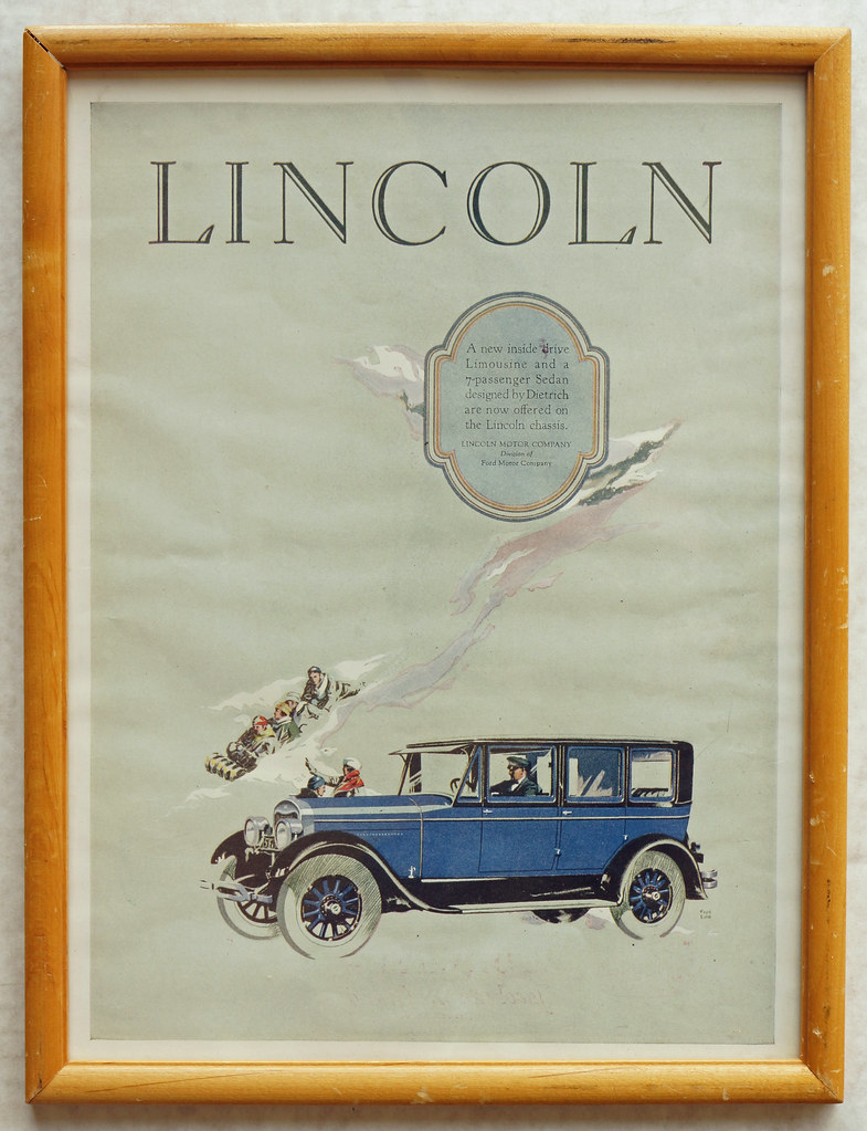 CM003 Lincoln Car Ad Framed DSC04191