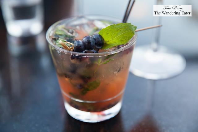You Look Smashing - Breckenridge bourbon, blueberry, lemon, agave