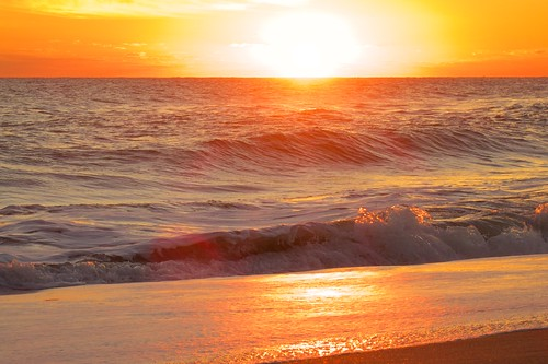 ocean beach sunrise dawn surf florida indialantic
