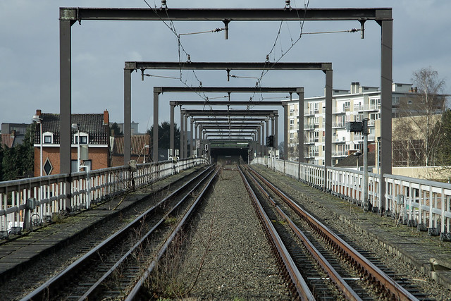 Unused metroviaduct Charleroi